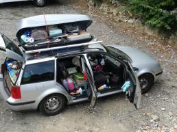 Bellerive-Vaud, Elvetia - 2017 - Masina maxim incarcata