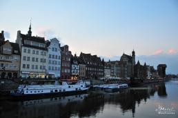Gdansk, Polonia - Cladirile de pe malul apei